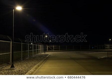 Открытый баскетбольная площадка освещение осветительное оборудование Blue Sky Сток-фото © stevanovicigor