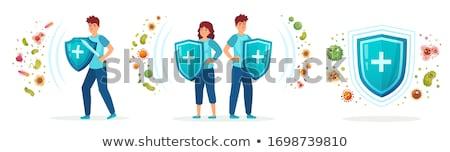 細菌 3dのレンダリング 抽象的な 健康 背景 青 ストックフォト © oorka