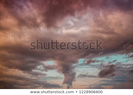 Red Sun and Clouds Vortex Horizon Stock photo © Frankljr
