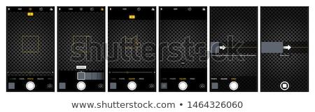 Média interfész kamera vektor grafikus művészet Stock fotó © vector1st