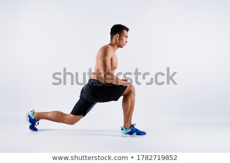 Afro american bodybuilder guy prepare to do exercises  Stock photo © deandrobot
