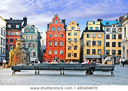 old town street in Stockholm, Sweden Stock photo © neirfy