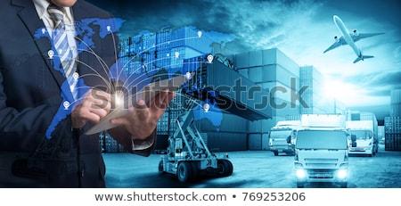 Transport concepts coloré carte camion Photo stock © Genestro