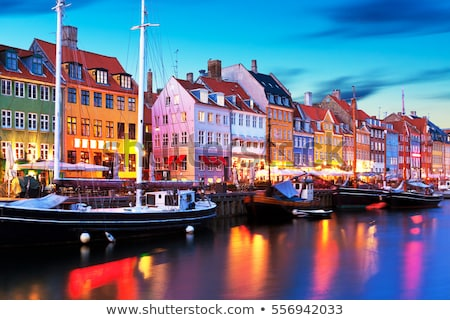 Városkép Koppenhága város Dánia utca nyár Stock fotó © prill