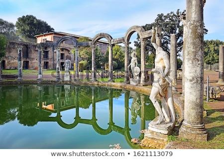 Starożytnych ruiny willi wody drzewo podróży Zdjęcia stock © vladacanon