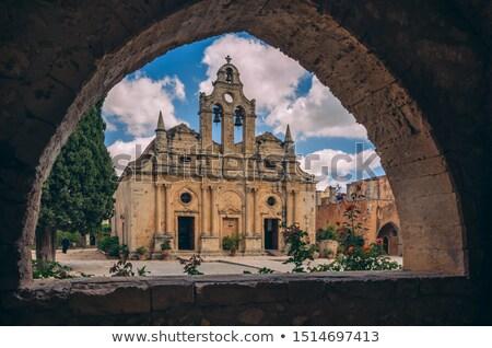 Orthodoxe église ville Grèce repère architecture Photo stock © tony4urban