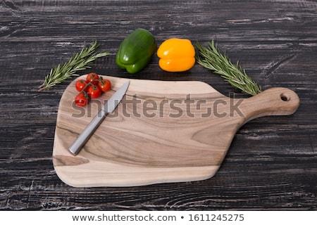 Sebze tahta taze sarımsak Stok fotoğraf © M-studio