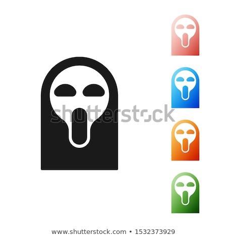 Set skulls. Head of  skeleton in a scary demonic masks. Horrible Stock photo © popaukropa