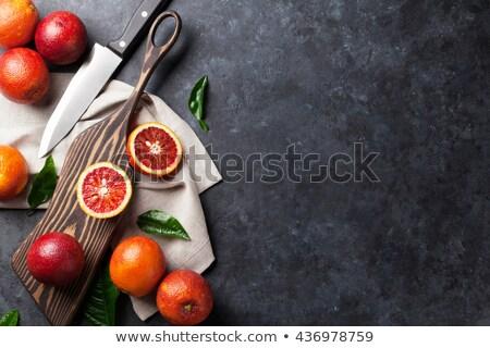 かんきつ類の果実 ナイフ 自然 石 表示 ストックフォト © tab62