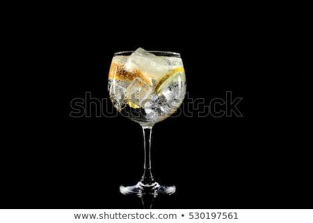 gin · pić · zielone · szkła · koktajl · tropikalnych - zdjęcia stock © Komar