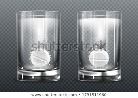 Stok fotoğraf: Aspirin · tablet · cam · su · beyaz · tıbbi