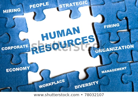 Puzzle with word Human Resources Stock photo © fuzzbones0