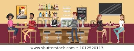 Man drinking at the bar vector illustration. Stock photo © RAStudio