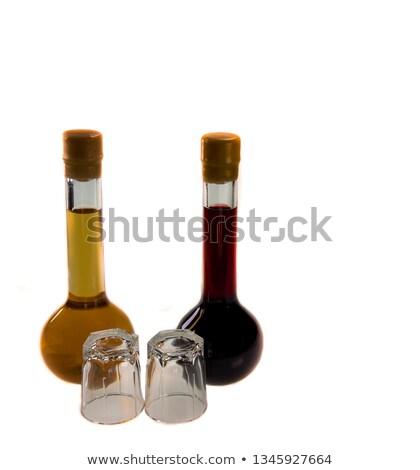 очки Вишневое бренди продовольствие стекла фон Сток-фото © Alex9500