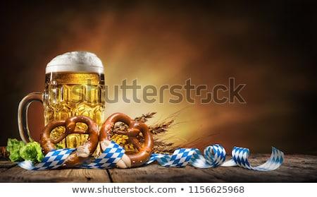 Oktoberfest bier illustratie grappig beker cool Stockfoto © adrenalina