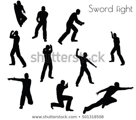 男 · 戦う · ポーズ · 白 · eps · 10 - ストックフォト © istanbul2009