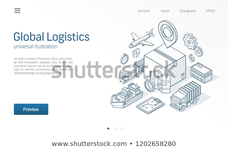 Cargo container ship sketch icon. Stock photo © RAStudio