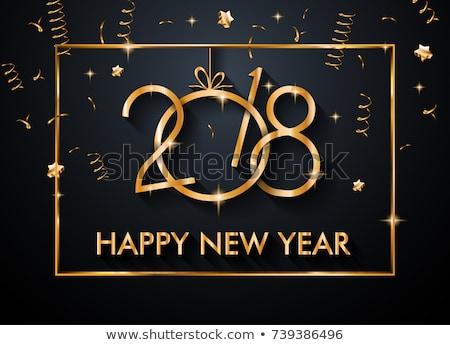 2017 happy new year restaurant menu template for your seasonal flyers stock photo © davidarts