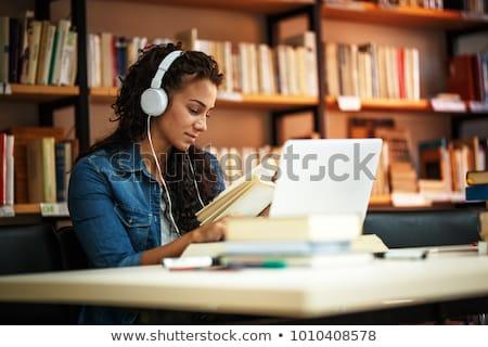 Stockfoto: Stedelijke · literatuur · gelukkig · jonge · student