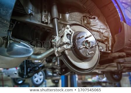 voiture · suspension · rendu · 3d · métal · pouvoir · moteur - photo stock © phantom1311