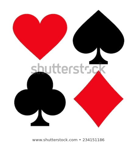 Stock photo: Hearts Suit Of Cards