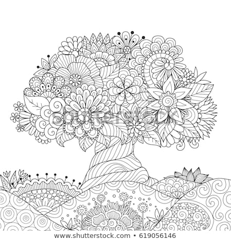 Coloring book - vector illustration stock photo © Natali_Brill