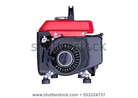 Rood benzine generator witte huis Stockfoto © ozgur