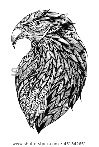 Eagle head with Tribal Feathers vector Stock photo © Andrei_