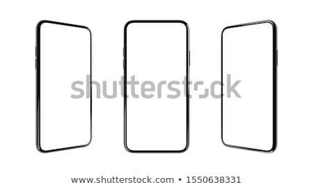 Telefonu biały odizolowany 3D obraz projektu Zdjęcia stock © ISerg