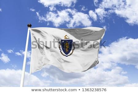 USA · Massachusetts · zászló · fehér · 3d · illusztráció · textúra - stock fotó © tussik