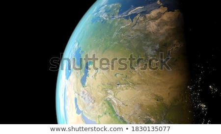 asia seen from space 3d illustration stock photo © hermione