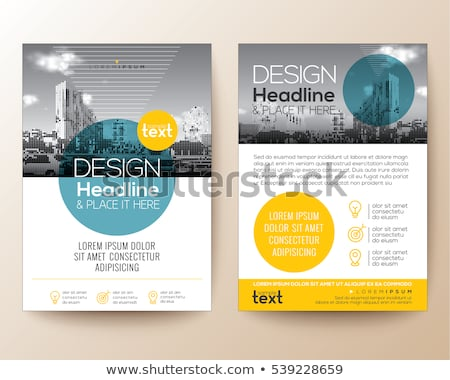 brochure layout template design with geometric shapes vector