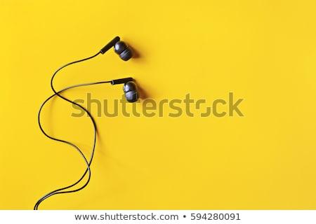 escuchar · música · diseno · estilo · colorido · ilustración · blanco - foto stock © sdcrea