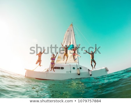 boat on a tropical island stock photo © tommyandone