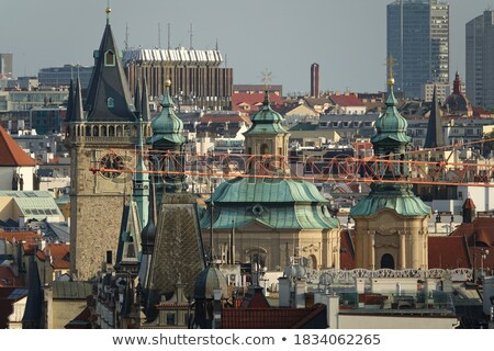 rooftop view over prague from the st nicholas church stock photo © kirill_m