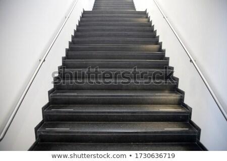 Kentsel merdiven tırabzan detay sokak yeraltı Stok fotoğraf © stevanovicigor