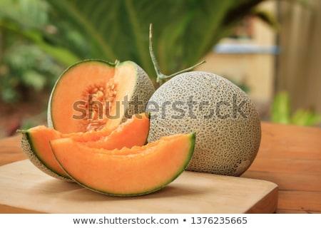 Dinnye gyümölcs fehér mezőgazdaság vág Stock fotó © M-studio