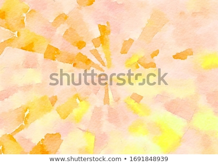 green and yellow watercolor paint background with dripping effec Stock photo © SArts