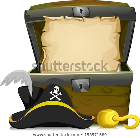 treasure chest and parchment stock photo © adrenalina