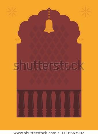Tempel ontwerp henna stijl oranje Stockfoto © hpkalyani