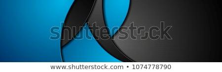 Abstract contrasto blu nero ondulato corporate Foto d'archivio © saicle
