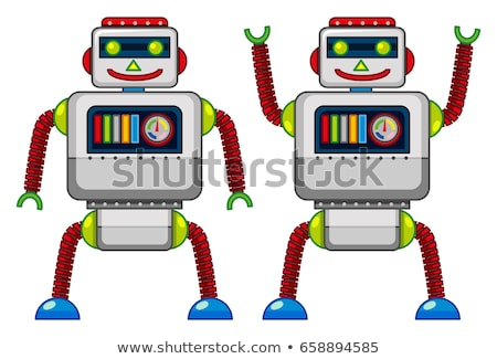 Two robots doing different actions Stock photo © bluering