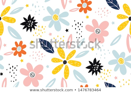 Cute Blumenmuster Design grau Natur Hintergrund Stock foto © SArts