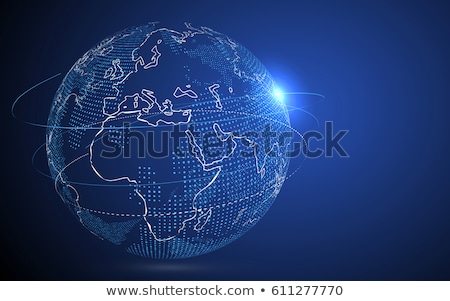 World Map Point. Africa. Vector Illustration. Composition, Representing The Global Network Connectio Stock photo © pikepicture