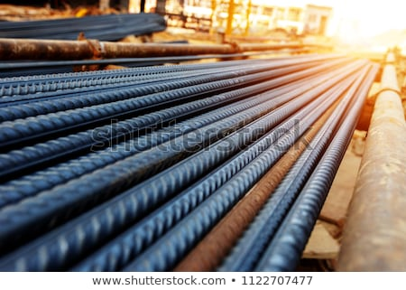 Rusting Steel Rebar Building Construction Site Stock photo © Qingwa