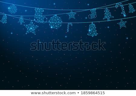 Natale decorazione blu giocattoli neve effetto Foto d'archivio © dariazu