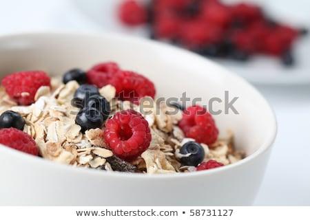 Müsli ontbijt ondiep vruchten glas Stockfoto © danielgilbey