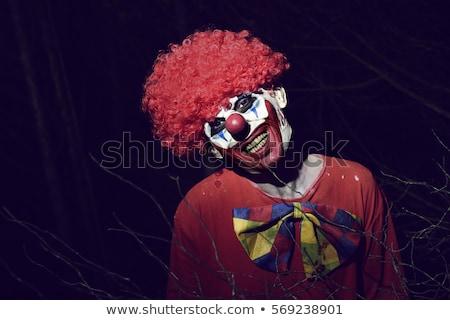 scary · kwaad · clown · portret · donkere · leuk - stockfoto © nito