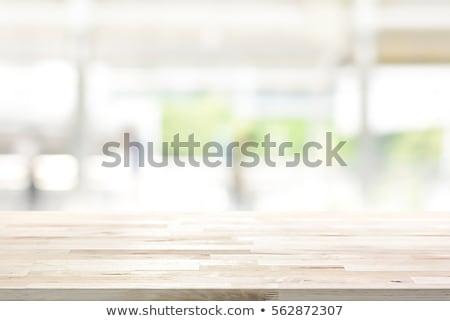 Unschärfe Küche Zimmer Innenraum Blau Weiß Stock Foto © Artjazz