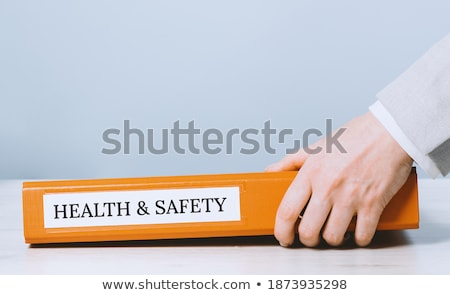 office folder with inscription restricted stock photo © tashatuvango